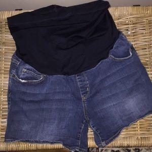 Liz Lange maternity jean shorts sz L